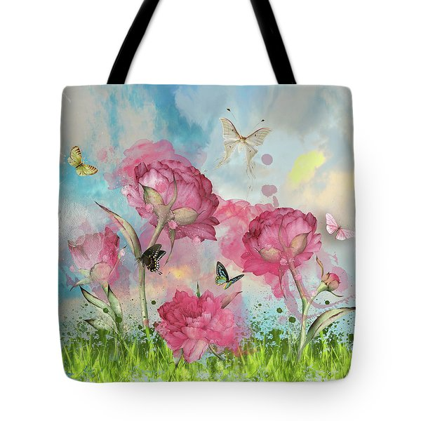 Party In The Posies Tote Bag by Diana Boyd