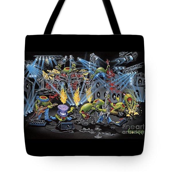 Party Like A Rockstar Tote Bag by Michael Godard