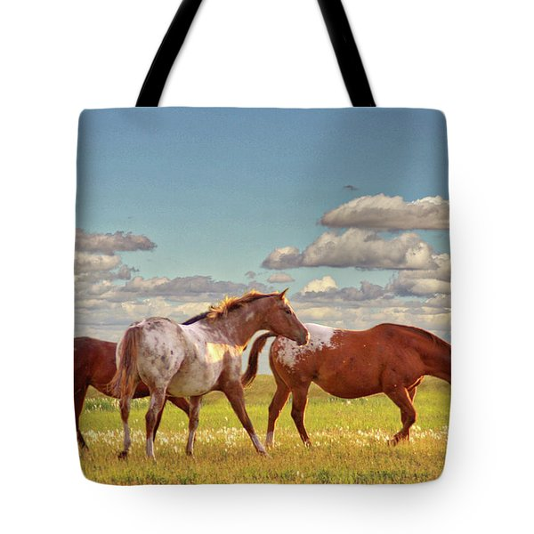 Party Of Three Tote Bag