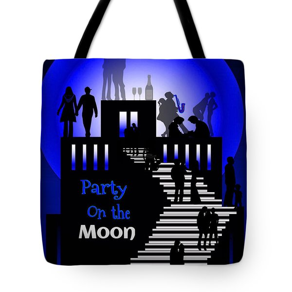 Party On The Moon Tote Bag