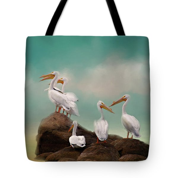 Tote Bag featuring the photograph Party On The Rocks by Lana Trussell
