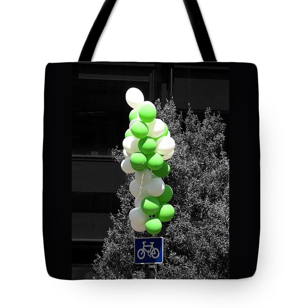 Party - On Yer Bike Tote Bag by Hazy Apple
