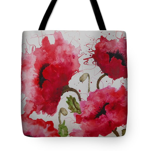 Party Poppies Tote Bag