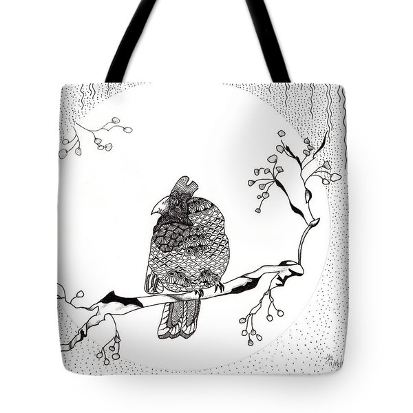 Party Time In Birdville Tote Bag by Jan Steinle