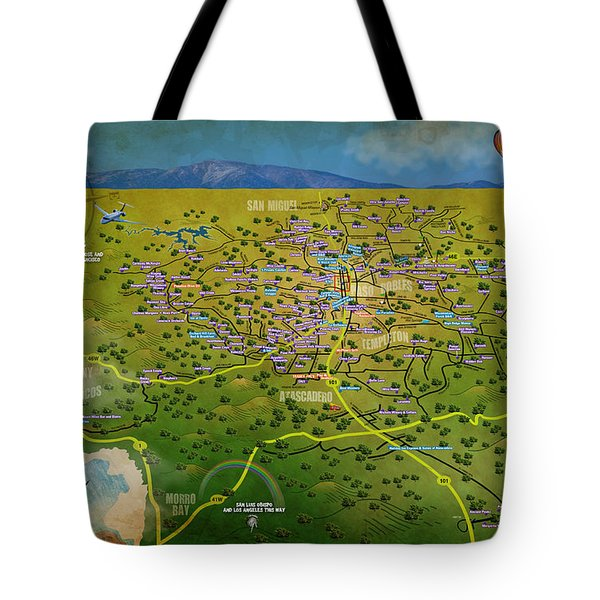 Paso Robles East Side / West Side Wine Tasting Tote Bag