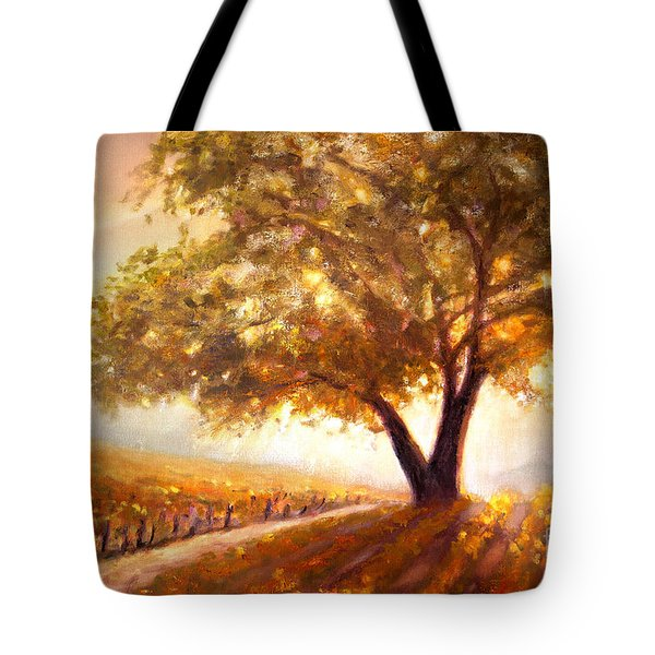 Tote Bag featuring the painting Paso Robles Golden Oak by Michael Rock