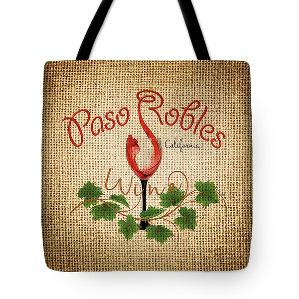 Paso Robles Wine And Burlap Tote Bag