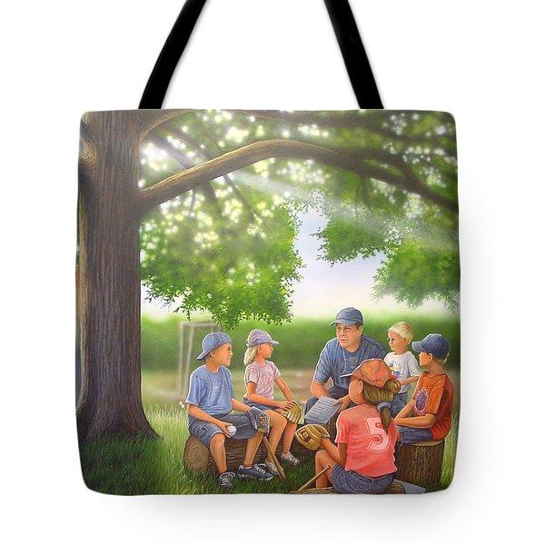 Pass It On - Baseball Tote Bag