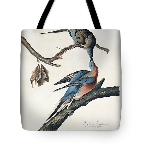 Passenger Pigeon Tote Bag by John James Audubon