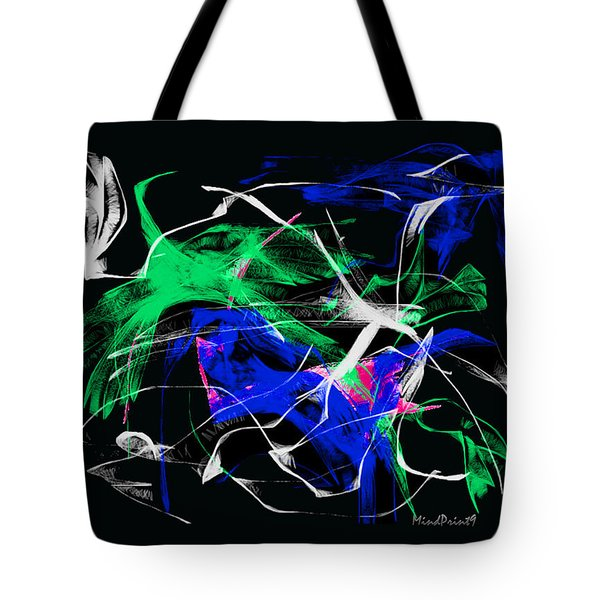 Tote Bag featuring the digital art Passing Bird by Asok Mukhopadhyay