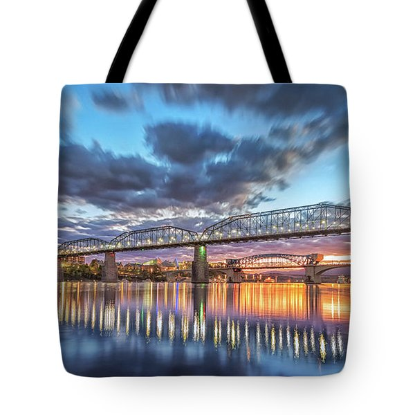Passing Clouds Above Chattanooga Pano Tote Bag