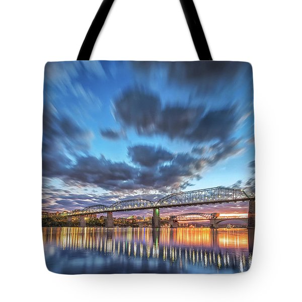 Passing Clouds Above Chattanooga Tote Bag