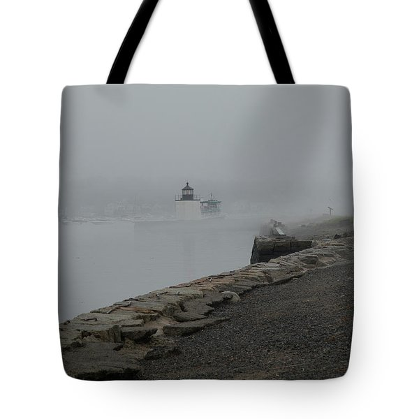 Tote Bag featuring the photograph Passing In The Fog by Jeff Folger