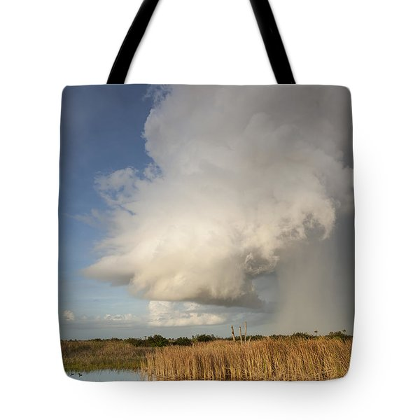 Passing Late Afternoon Rain Shower Tote Bag