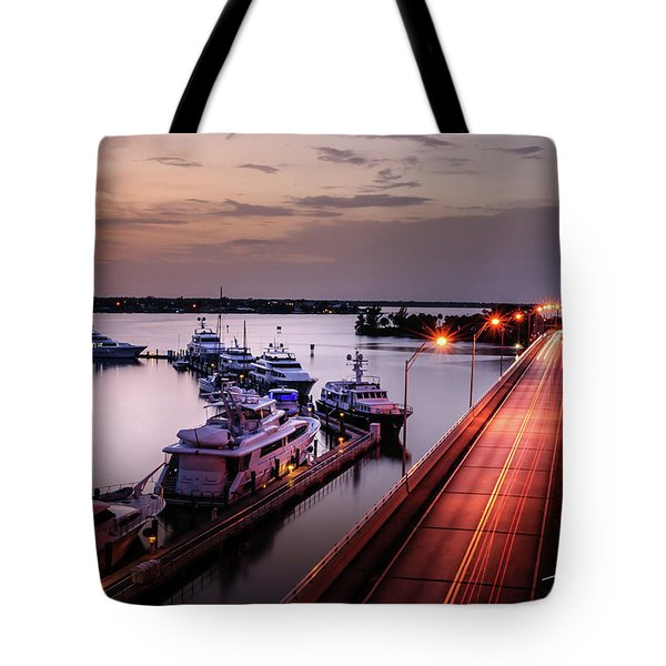Passing Lights Tote Bag