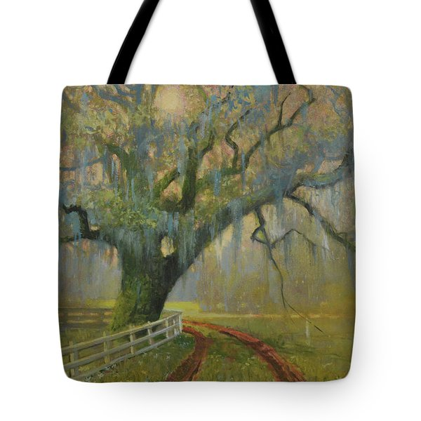 Passing Spring Shower Tote Bag by Blue Sky