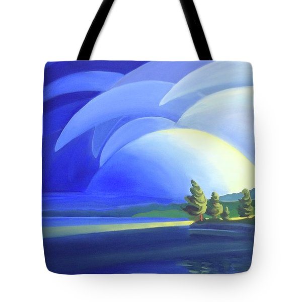 Passing Storm Tote Bag