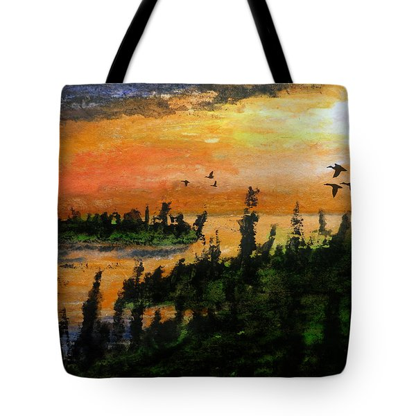 Passing The Rugged Shore Tote Bag by R Kyllo