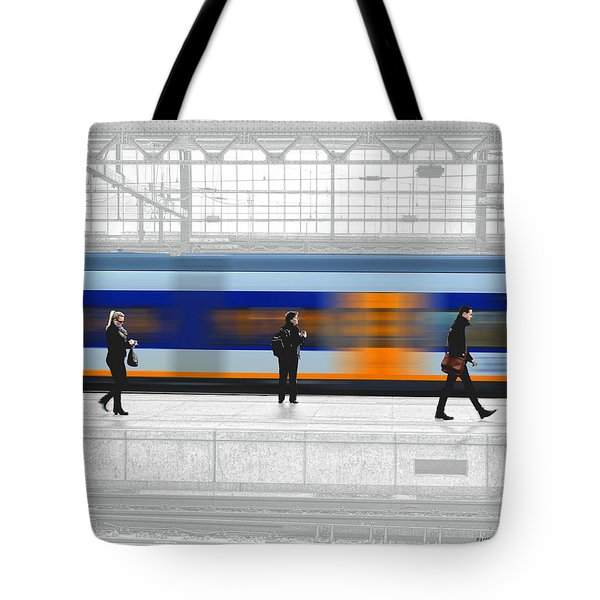 Tote Bag featuring the photograph Passing Train by Pedro L Gili