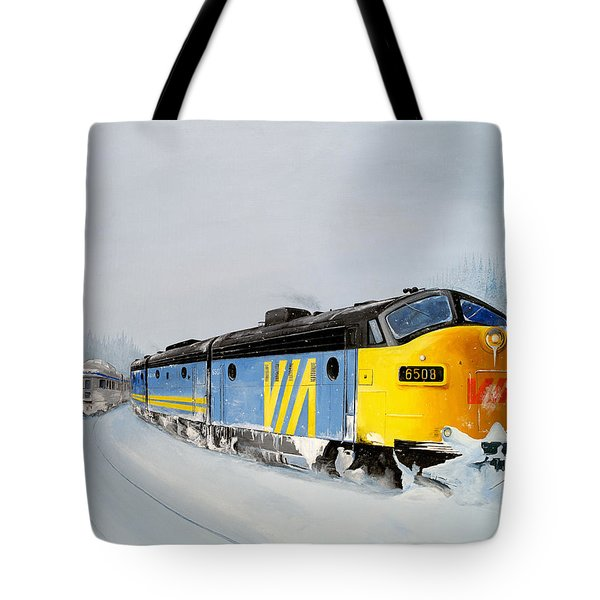 Passing Trains Tote Bag