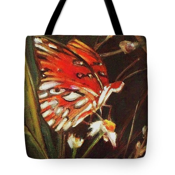 Passion Butterfly - Gulf Fritillary Tote Bag