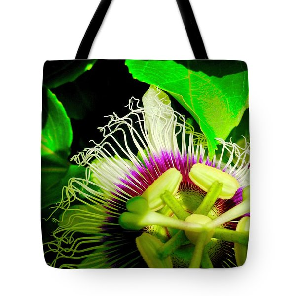 Passion Flower 2 Reflecting Tote Bag