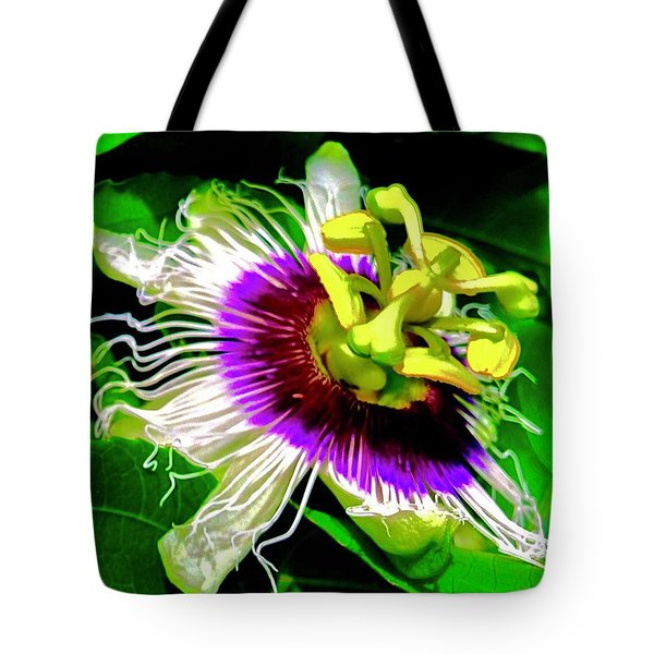 Passion Flower 3 Uplift Tote Bag
