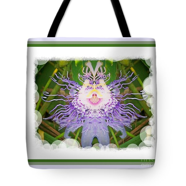 Passion Flower Fantasy 21 Tote Bag by Shirley Moravec