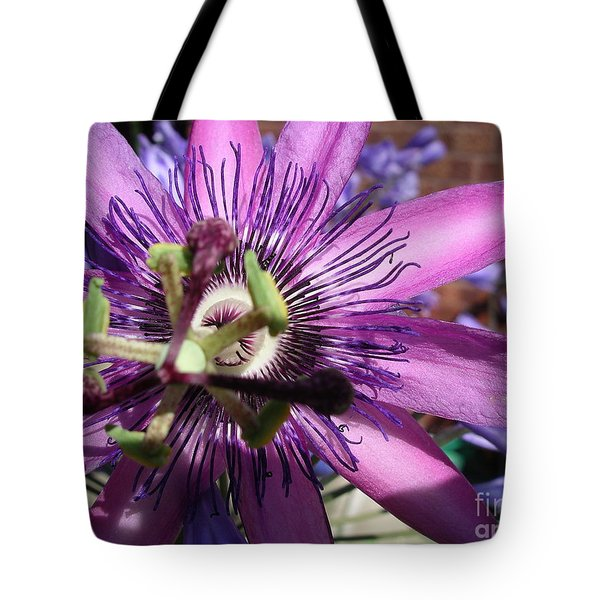 Tote Bag featuring the photograph Passion Flower by Jolanta Anna Karolska