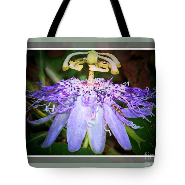 Passion Flower Lift Off Tote Bag by Shirley Moravec
