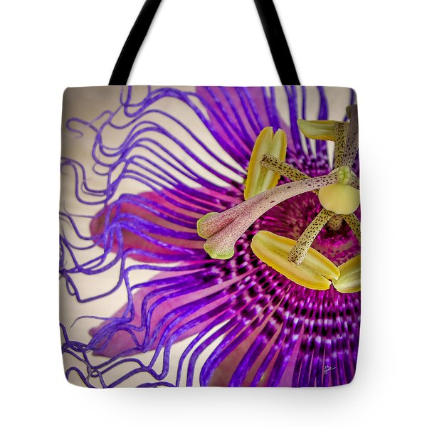 Passion Flower Squared Tote Bag by TK Goforth