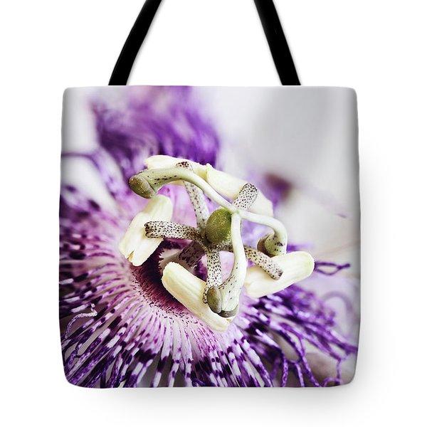 Passion Flower Tote Bag by Stephanie Frey
