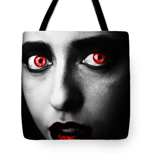 Tote Bag featuring the painting Passion Glare by Tbone Oliver
