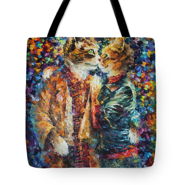 Passion Of The Cats  Tote Bag by leonid Afremov