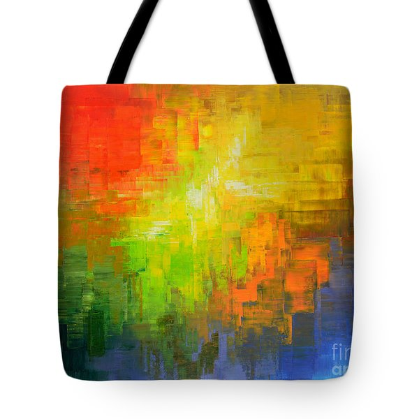 Tote Bag featuring the painting Passionate Plumage by Tatiana Iliina