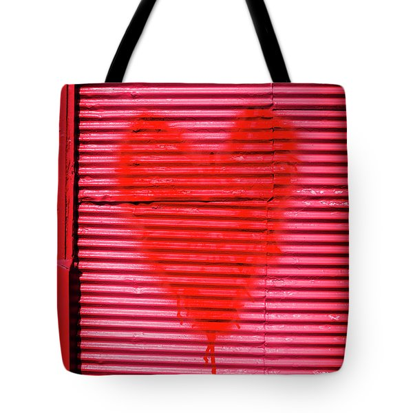 Passionate Red Heart For A Valentine Love Tote Bag