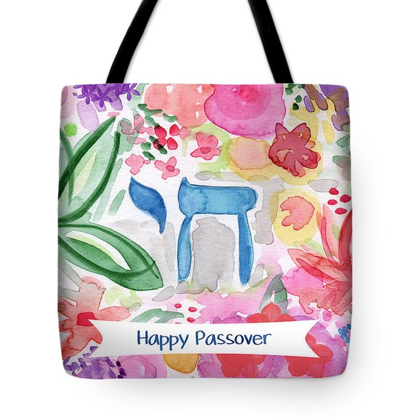 Passover Chai- Art By Linda Woods Tote Bag
