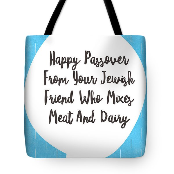 Passover Meat And Dairy Card- Art By Linda Woods Tote Bag