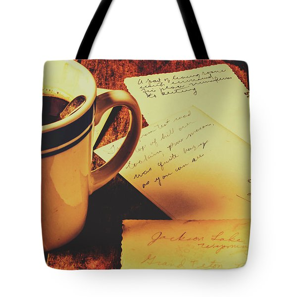 Past Postcard Preoccupations  Tote Bag
