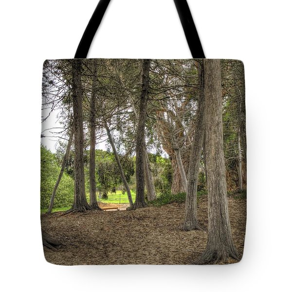 Past The Beach And Through The Trees Tote Bag