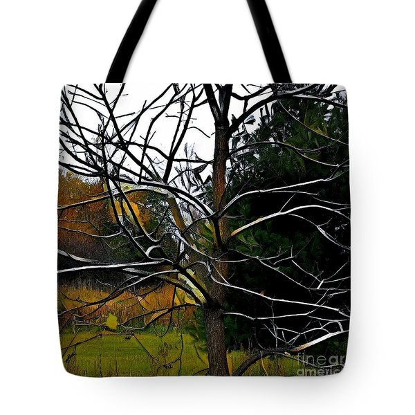 Past The Branches Tote Bag