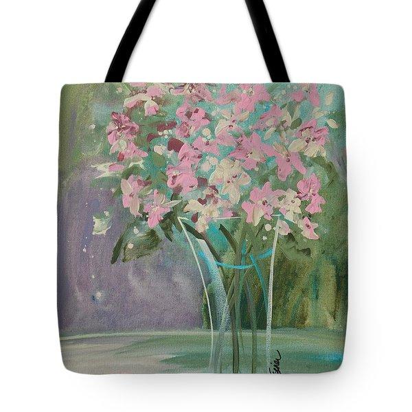 Pastel Blooms Tote Bag by Terri Einer