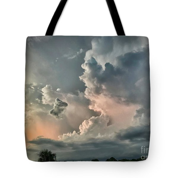 Pastel Clouds Tote Bag