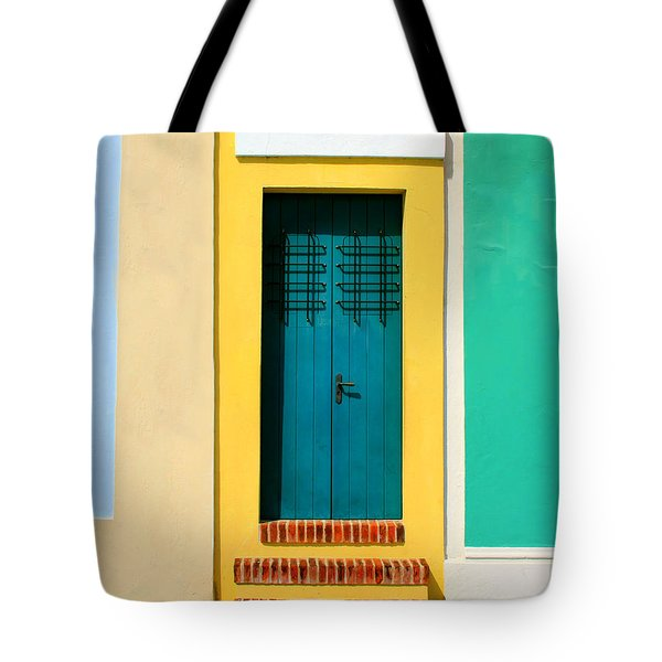 Pastel Doorway Tote Bag by Perry Webster