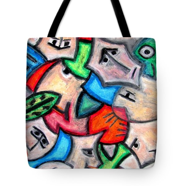 Pastel Heads By Rafi Talby Tote Bag by Rafi Talby