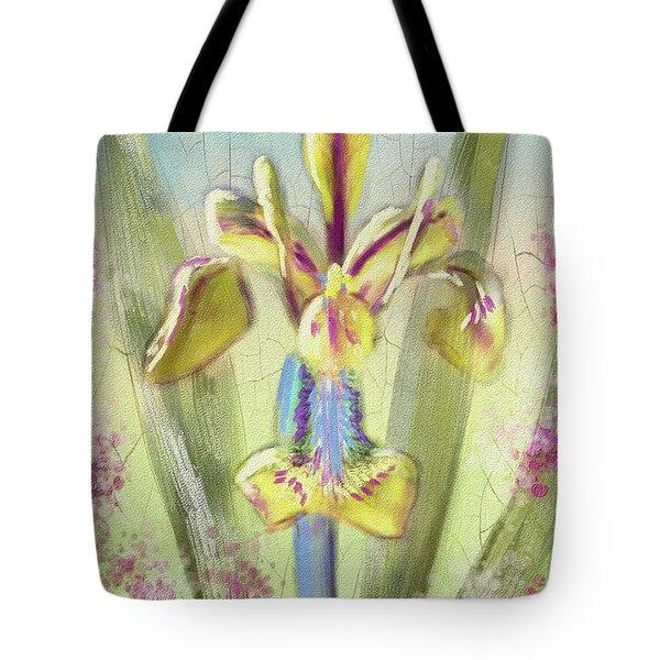 Pastel Iris Tote Bag by Lois Bryan