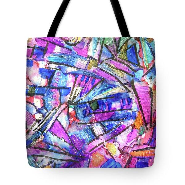 Pastel Kaleidoscope Tote Bag