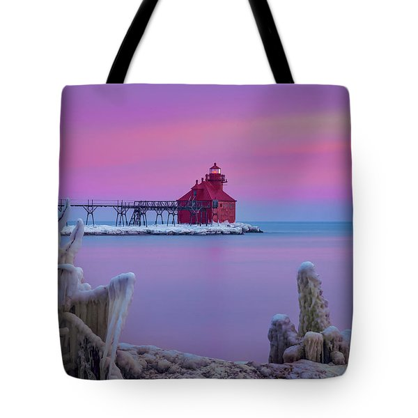 Pastel Lighthouse Tote Bag