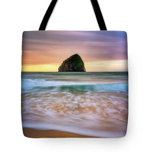 Tote Bag featuring the photograph Pastel Morning At Kiwanda by Darren White