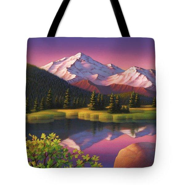 Pastel Mountain Tote Bag